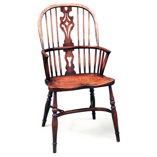 Windsor Splat-Back Arm Chair