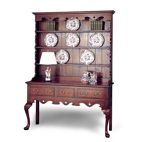 Welsh Dresser with Plate Rack (Item #1610)  sc 1 st  HL Holland Antique Reproduction Furniture : china cabinet plate holders - Pezcame.Com