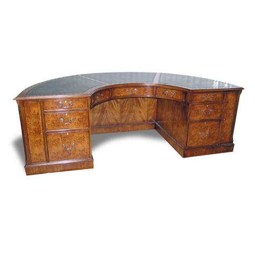 antique reproduction desk, Half Round Executive Desk