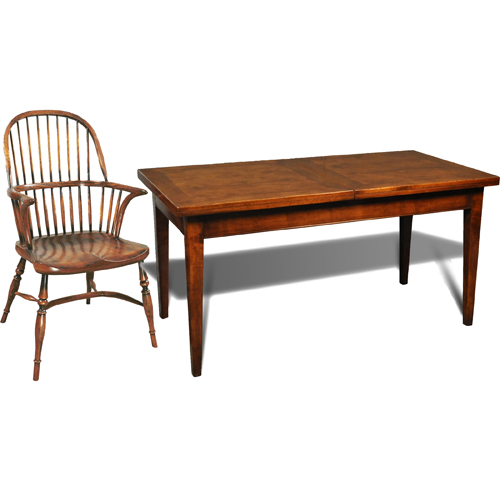 French Walnut Farm Table with center leaf