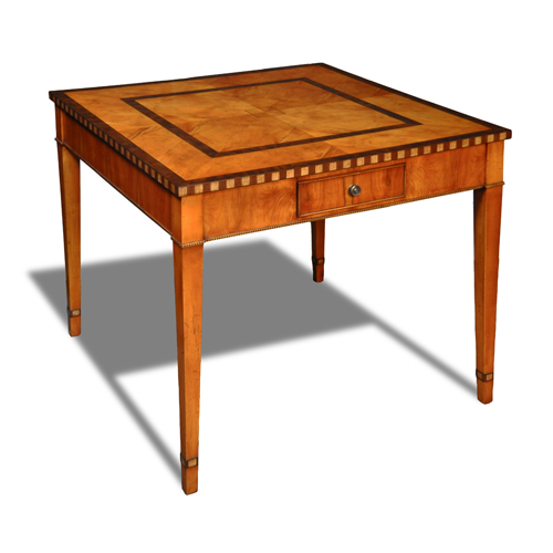 antique reproduction games table Games Table with Inlaid  : 2208aLG from hlholland.com size 500 x 500 jpeg 114kB