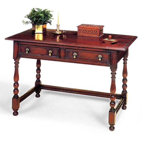 Turned Leg Writing Table, 54 inches wide