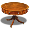 Drum Table in mahogany, 40 inches wide