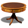 Drum Table in yew, 40 inches wide