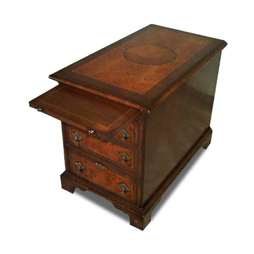 Oyster Veneer Chairside Chest