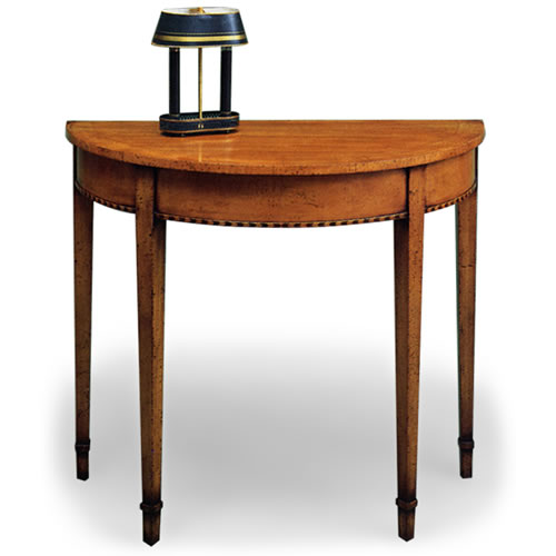 Demilune Console, 36 inches wide