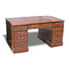 Breakfronted Pedestal Desk in mahogany