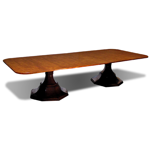 Double Pedestal Cloister Table