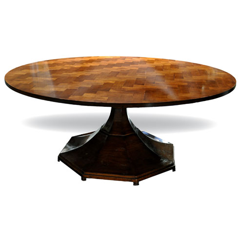 Cloister Table with Parquet Top